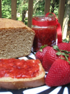 No-Knead wheat bread & freezer jam