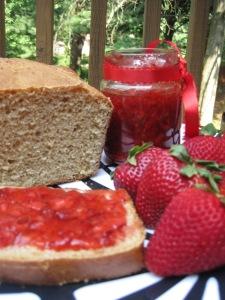 No-Knead wheat bread & freezer jam