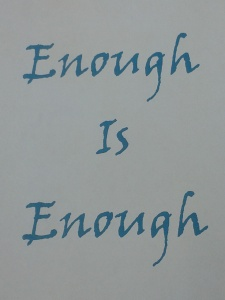 enough, worthiness, shame