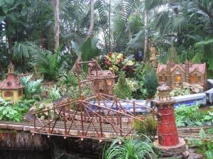 New York Botanical Garden holiday train display
